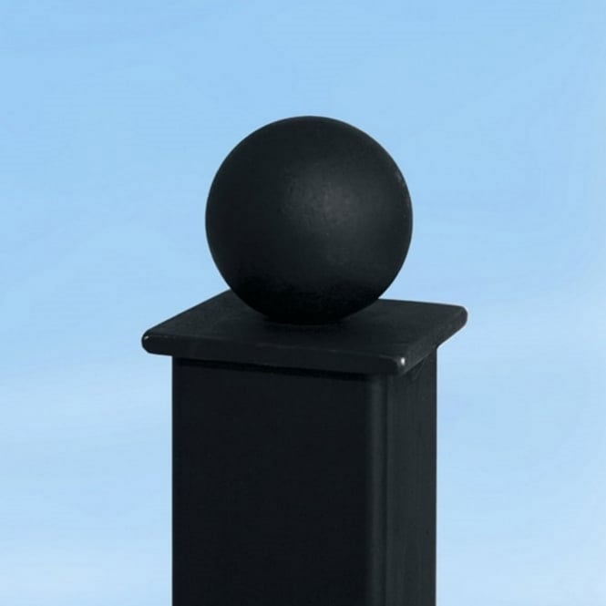 Burbage Ball Top Concrete-In Powder Coated Metal Post 1.4m