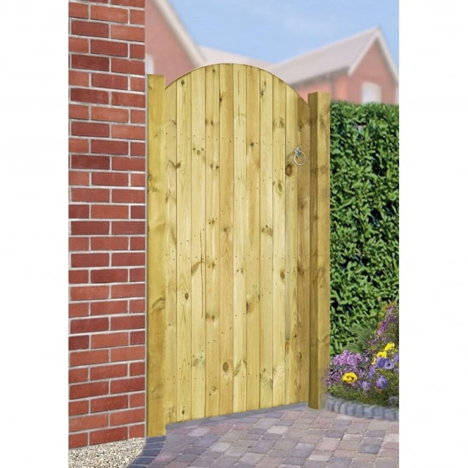 Burbage Carlton Bow Top Wooden Gate