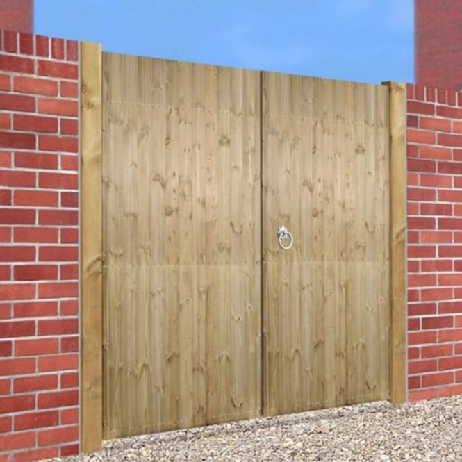 Burbage Carlton Tall Double Driveway Gate - Made to Measure