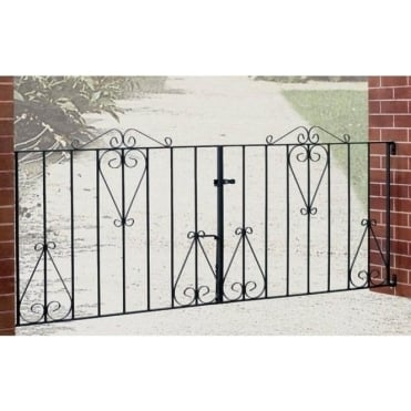 Classic Scroll Double Driveway Gate