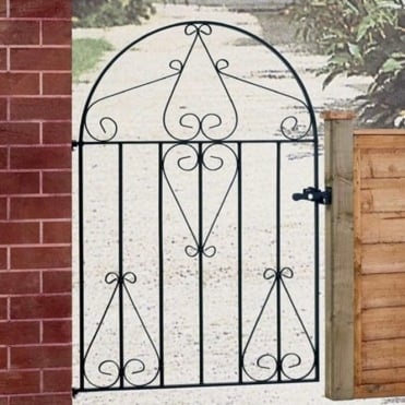 Classic Scroll Single Low Bow Top Gate
