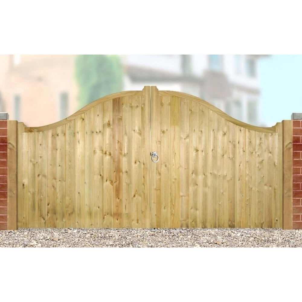 Burbage Drayton Shaped Top Low Double Wooden Gate