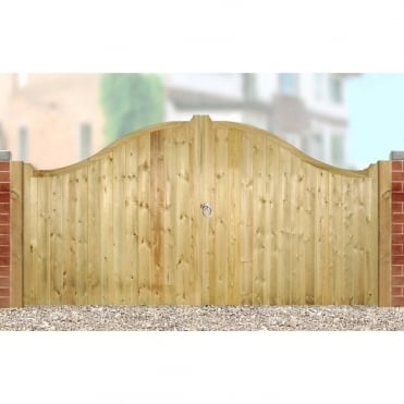 Drayton Low Arch Double Driveway Gate - Made to Measure