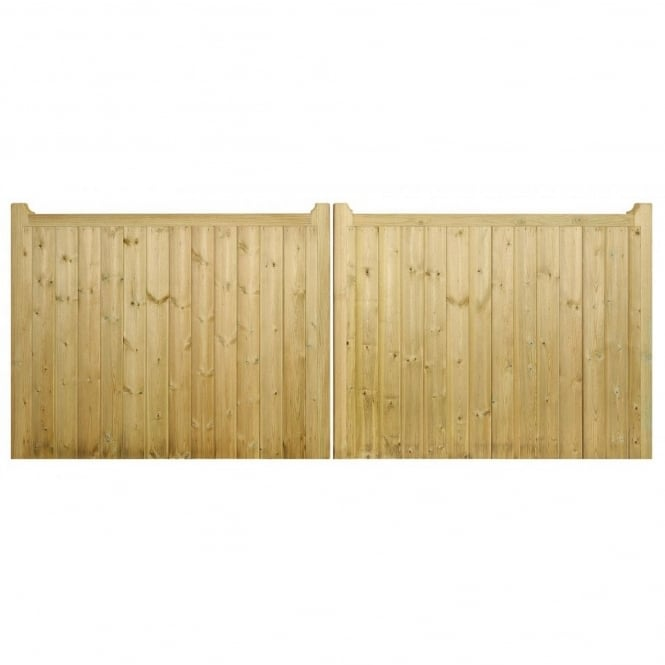 Burbage Drayton Square Top Low Double Wooden Gate