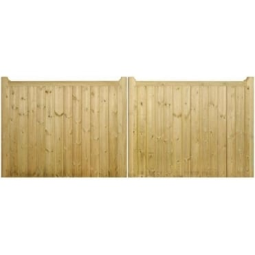 Drayton Square Top Low Double Wooden Gate