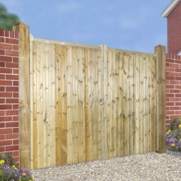 Drayton Square Top Tall Double Wooden Gate