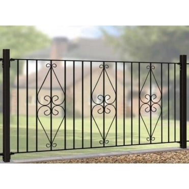 Henley Scroll Fence Panel