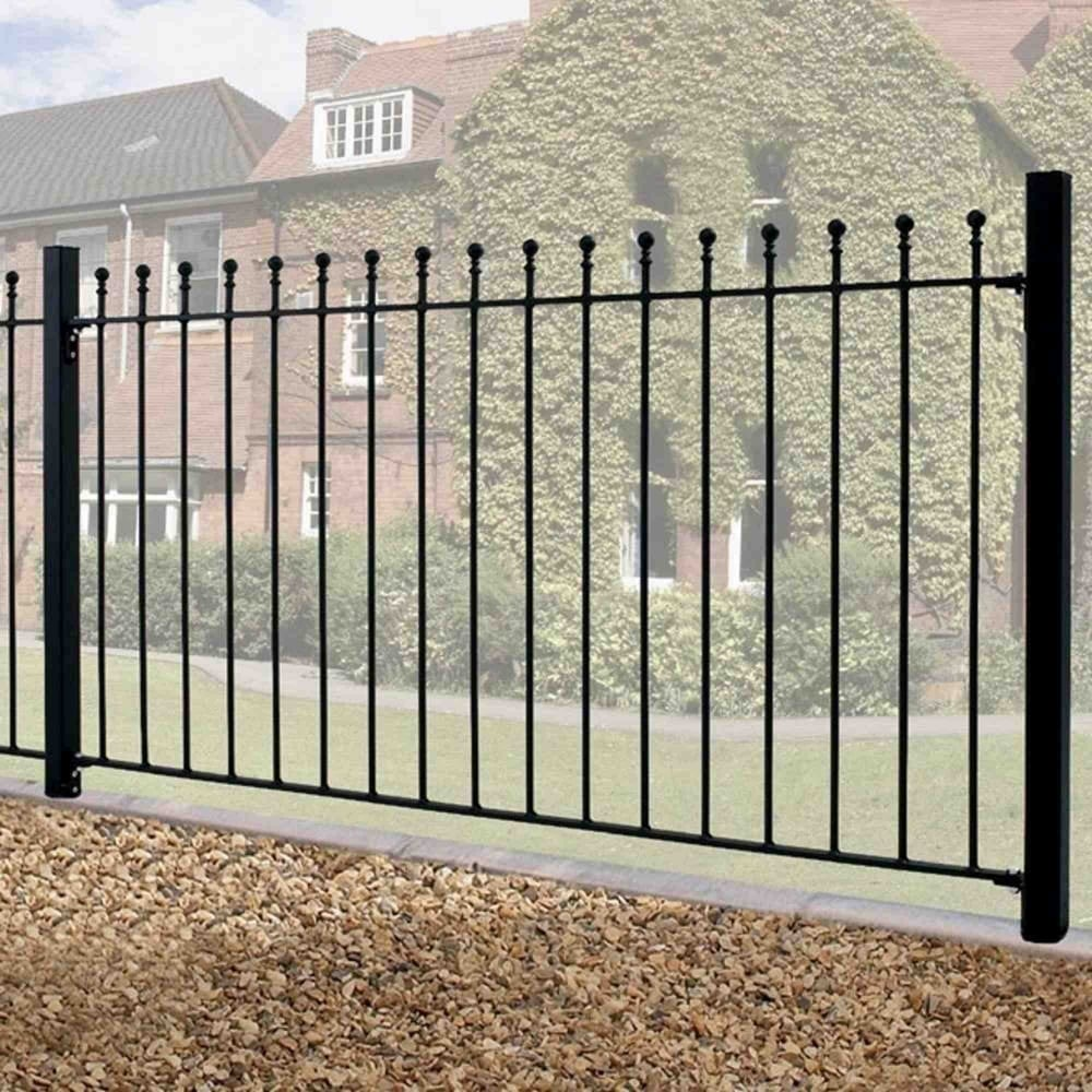 Burbage Manor Ball Top Fence Panel Garden Street
