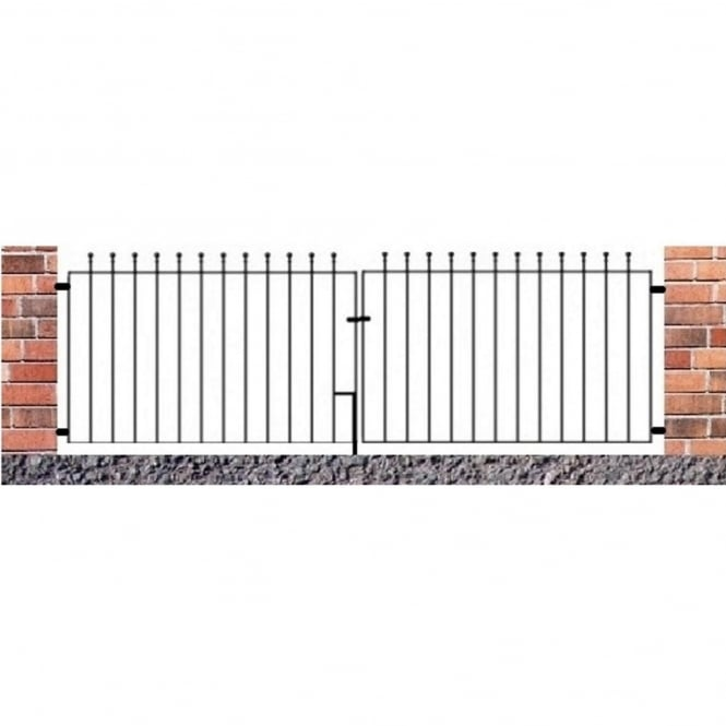 Burbage Manor Ball Top Flat Double Driveway Gate