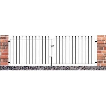 Manor Ball Top Flat Double Driveway Gate