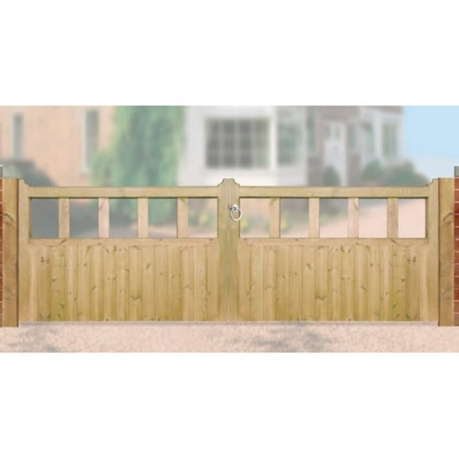 Burbage Quorn Double Driveway Gate - Made to Measure