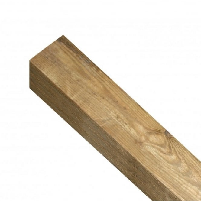 Burbage Square Top Wooden Post 1.35m