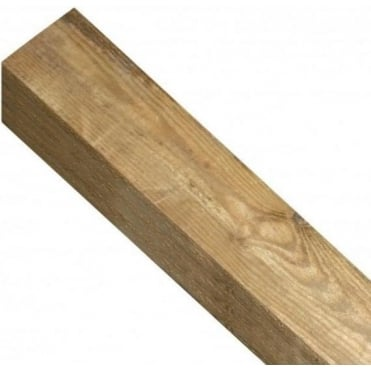 Square Top Wooden Post 1.35m