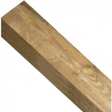 Square Top Wooden Post 2.4m