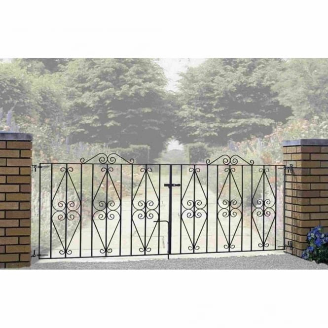 Burbage Stirling Scroll Double Driveway Gates - Made To Measure