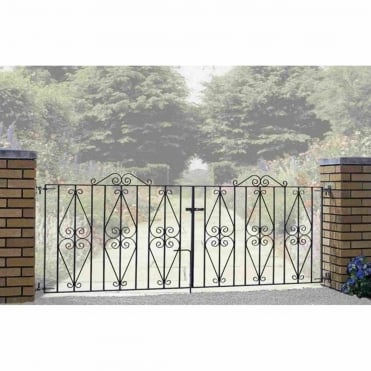 Stirling Scroll Double Driveway Gates - Made To Measure