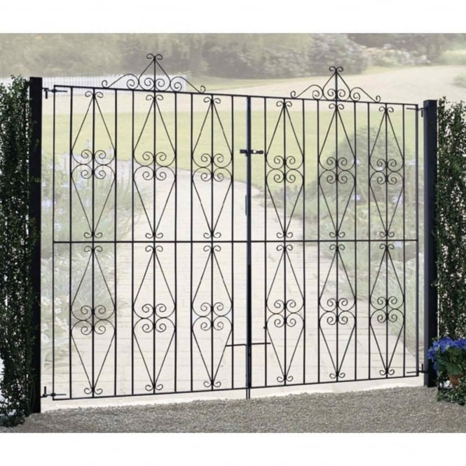Burbage Stirling Scroll Tall Double Driveway Gate