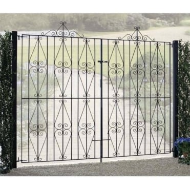 Stirling Scroll Tall Double Driveway Gate