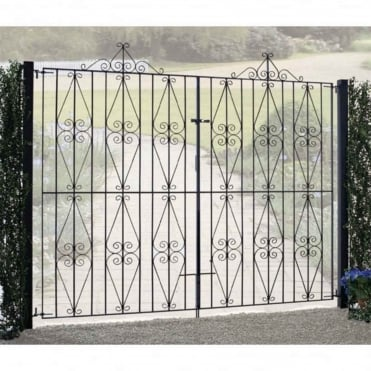 Stirling Scroll Tall Double Gates - Made To Measure
