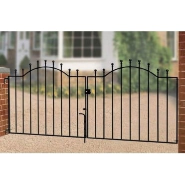 Weston Ball Top Double Driveway Gate