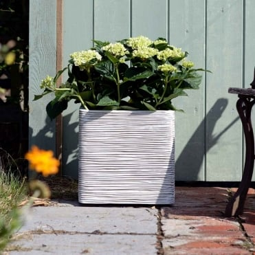 Ribbed Square Planter
