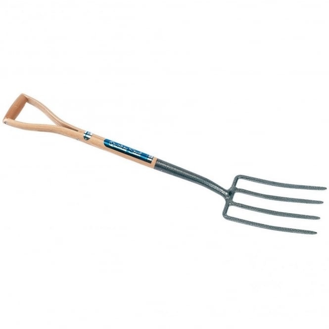 Draper Carbon Steel Digging Fork with Ash Handle