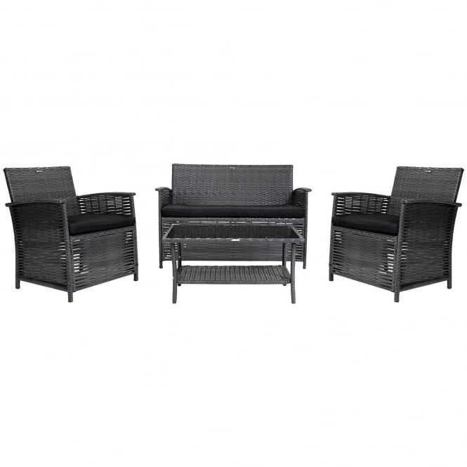 Charles Bentley 4 Piece Rattan Sofa Set