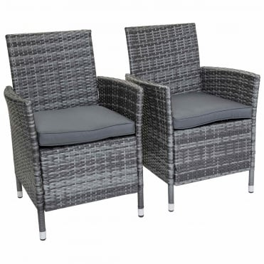 Napoli Rattan Dining Chairs x 2