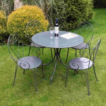 Steel Heart 4 Seater Dining Set