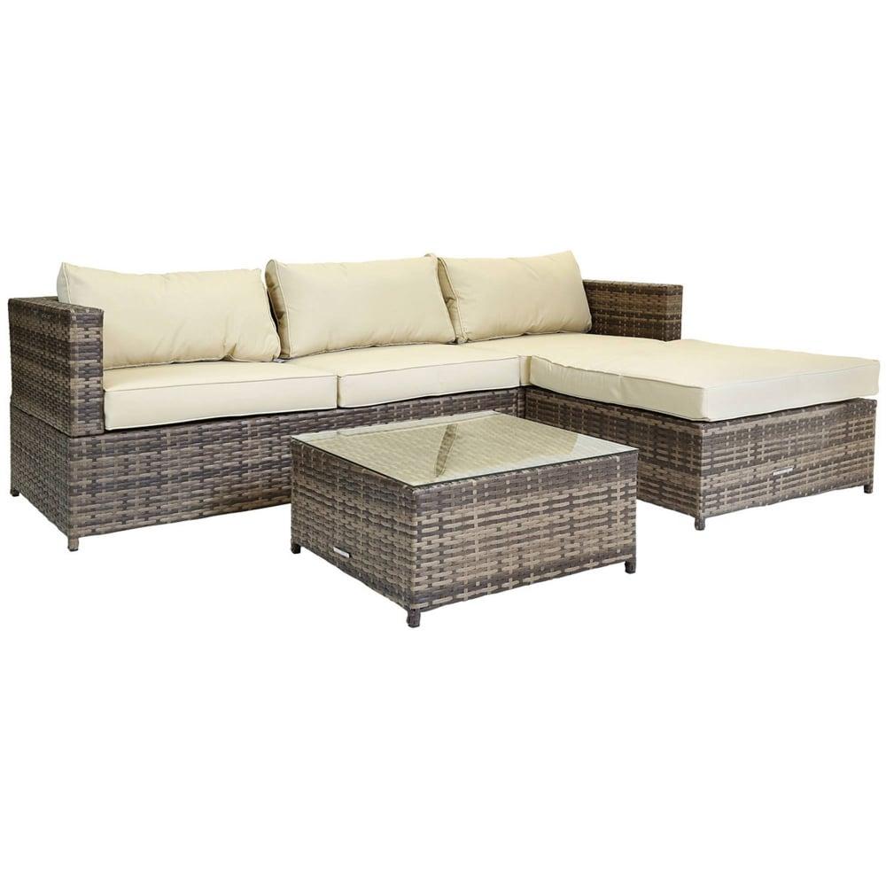 Awesome Verona L Shaped Rattan Sofa Set Evergreenethics Interior Chair Design Evergreenethicsorg