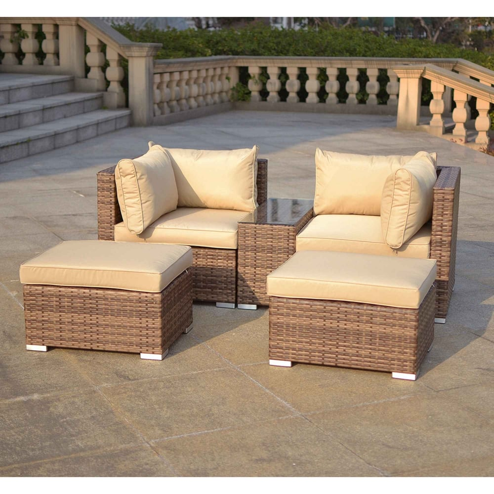 Charles Bentley Verona Multi Function Rattan Lounge Set Garden Street
