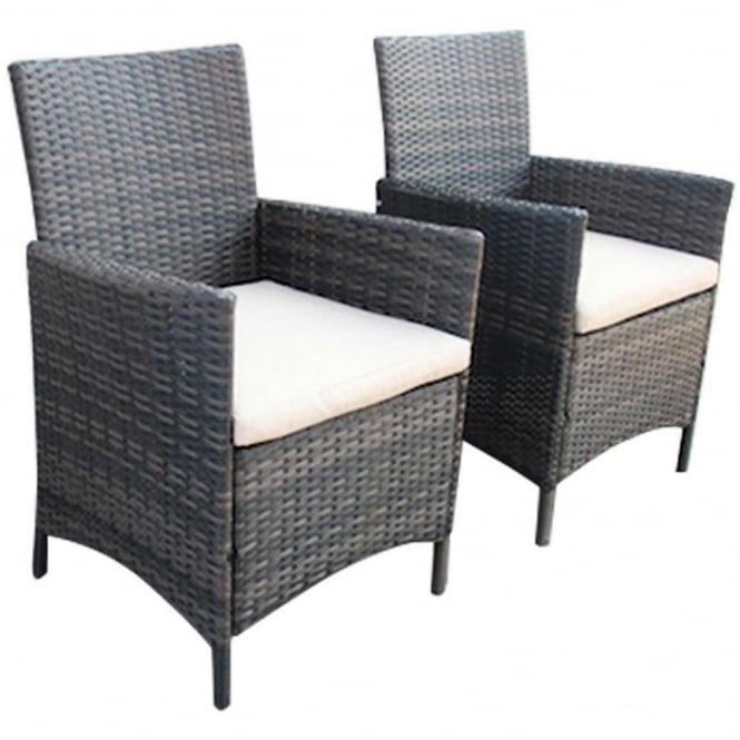 Charles Bentley Verona Pair Of Rattan Dining Chairs