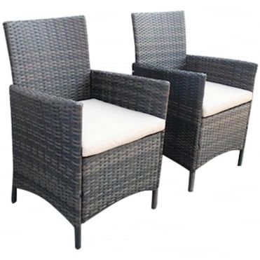Verona Pair Of Rattan Dining Chairs