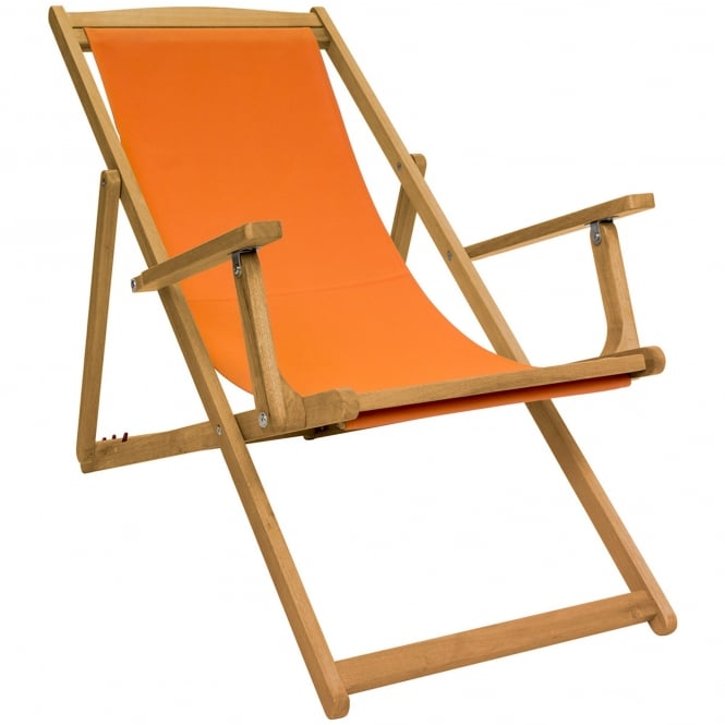 Charles Bentley Wooden Eucalyptus Deck Chair
