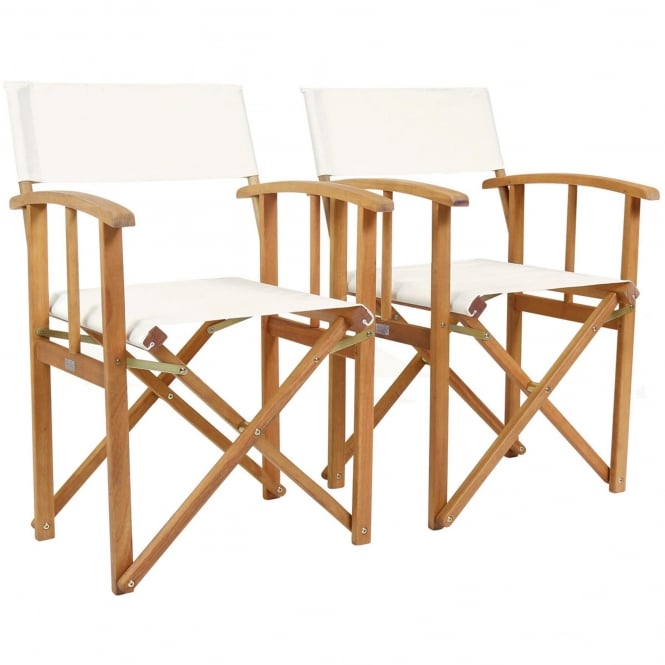 Charles Bentley Wooden Pair Of Folding Directors Chairs