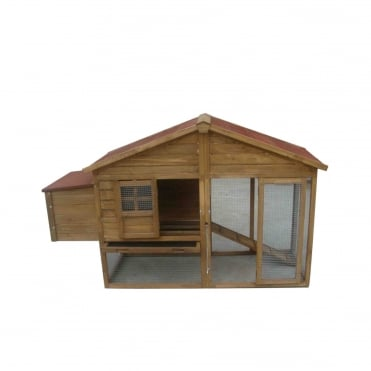 Apex Chicken Coop With Attached Run