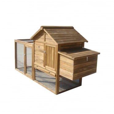 Chicken Coop With Attached Run