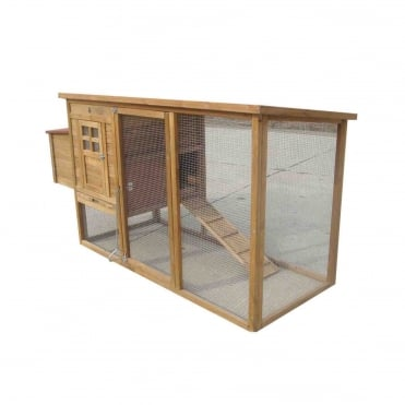 Large Rectangular Chicken Coop With Run