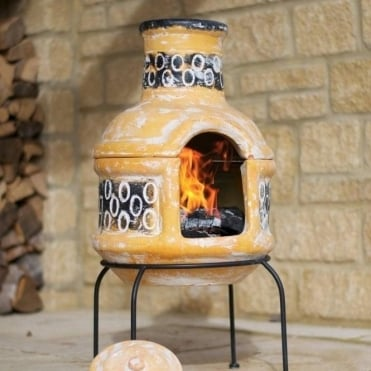 Circles Small Chimenea With Grill