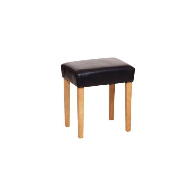 Image of Brown Faux Leather Stool