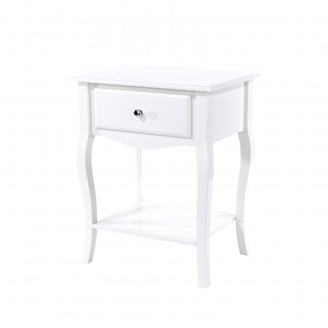 Image of Cabriole 1 Drawer Bedside Cabinet