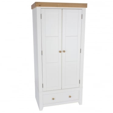 Capri Twin Door With Drawer Wardrobe