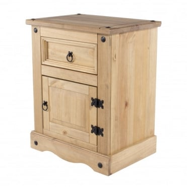 Corona 1 Drawer, 1 Door Bedside Cabinet