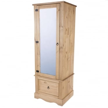 Corona Armoire With Mirrored Door