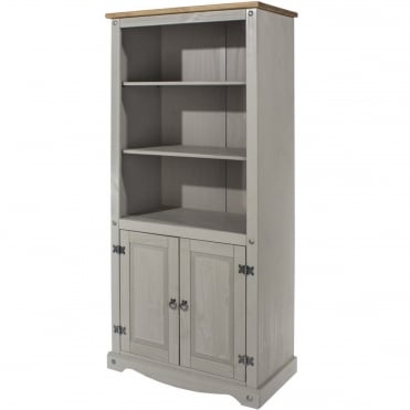 Corona Grey 2 Door Bookcase