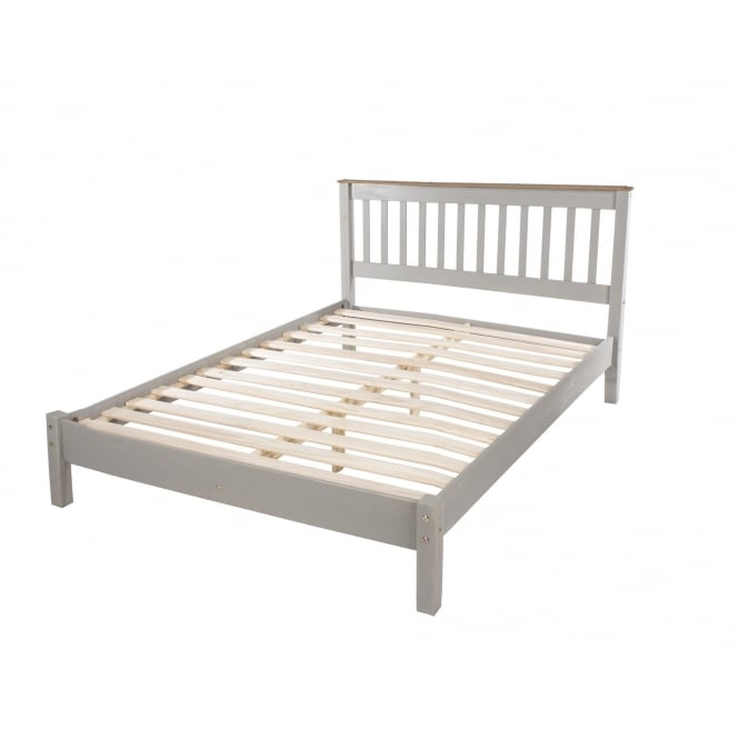 Core Corona Grey Double Low End Bed Frame