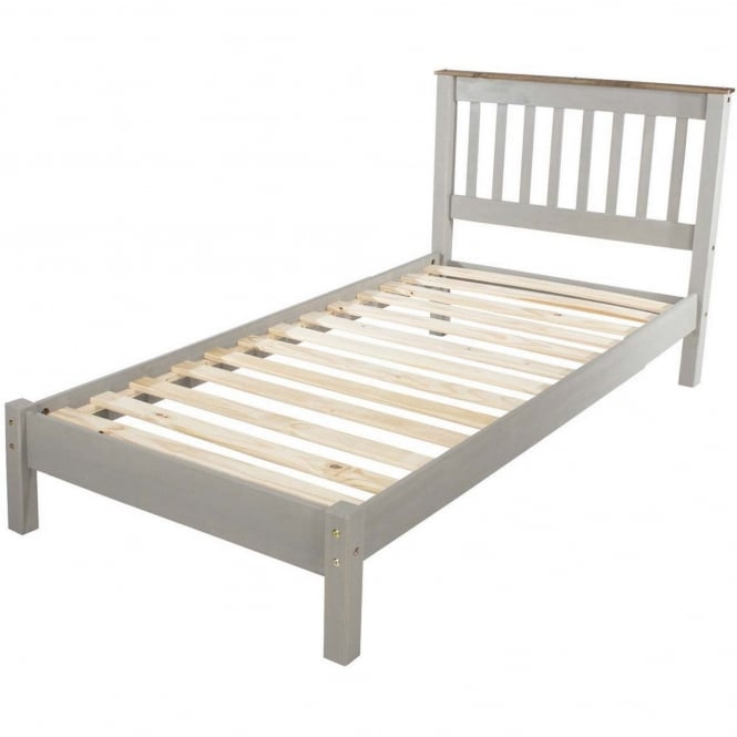 Core Corona Grey Single Low End Bed Frame