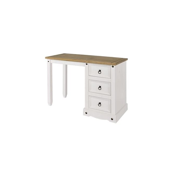 Core Corona White Single Pedestal Dressing Table