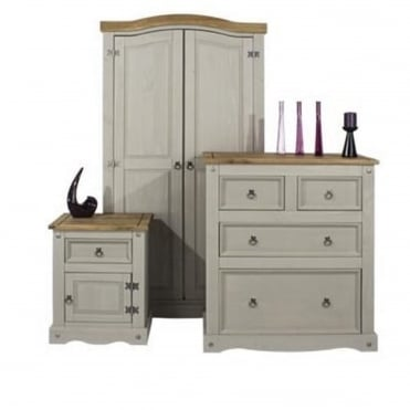 Corona Grey Three Piece Bedroom Set