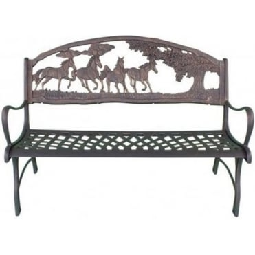 Country Scene Bench